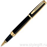 Ручка роллерная Waterman Exception Nignt Gold/GT S0636910